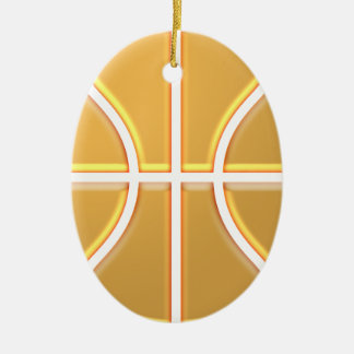 Basketball Ceramic Oval Ornament