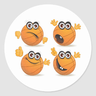 Basketball Characters Stickers