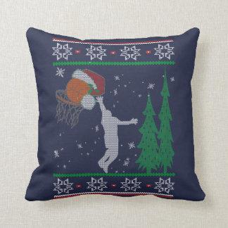 Basketball Christmas Throw Pillow