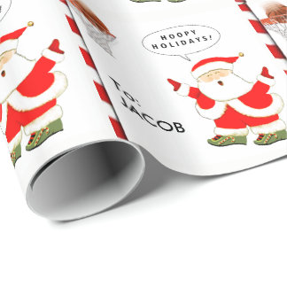 Basketball Christmas Wrapping Paper
