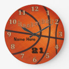 Basketball Clocks with Name and Jersey NUMBER