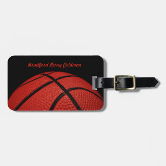 Basketball Close-up custom Luggage Tag