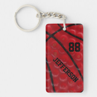 Basketball Close-up custom Name and number Acrylic Keychains