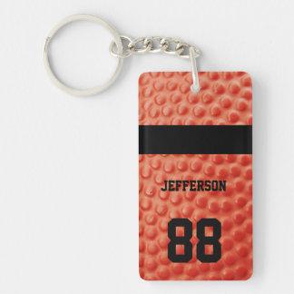 Basketball Close-up custom Name and number Single-Sided Rectangular Acrylic Keychain