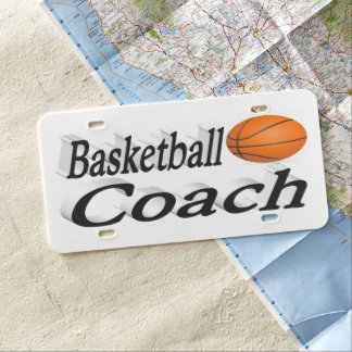 Basketball Coach 3D License Plate