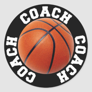 Basketball Coach Classic Round Sticker