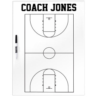 Basketball Coach Dry Erase Board