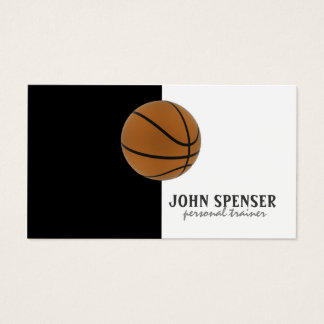 Basketball Coach Lessons Black & White Card