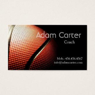 Basketball coach player referee Club Sport School Business Card