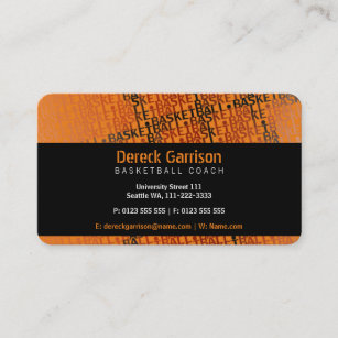 Basketball business cards business card printing zazzle ca basketball coach sport business card colourmoves