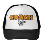 Basketball Coach whistle, orange Trucker Hat