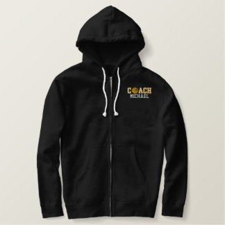 Basketball Coach - your name Embroidered Hooded Sweatshirt
