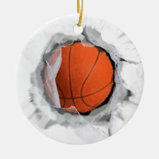 Basketball Collectible Round Ceramic Ornament