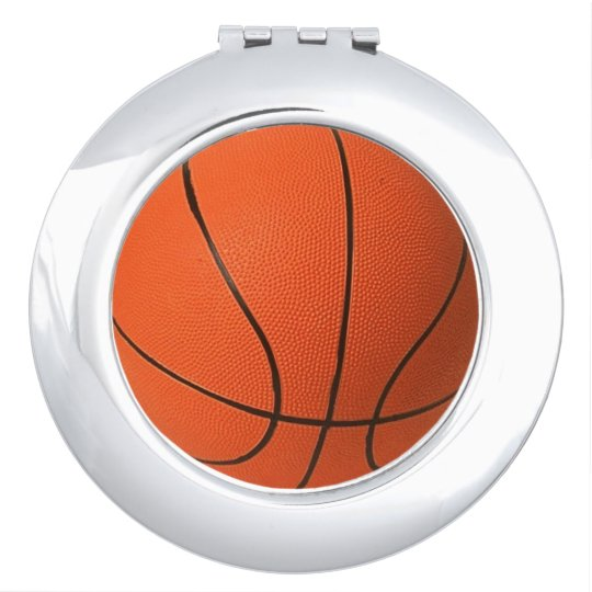 Basketball Compact Mirror