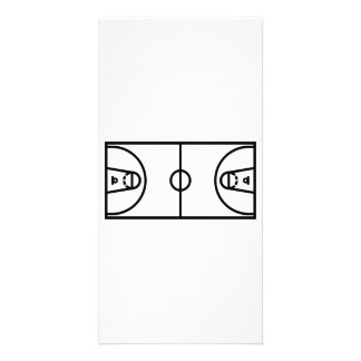 Basketball court customized photo card