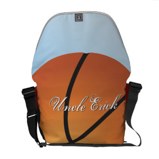Basketball Create your Own Custom Monogram Courier Bags