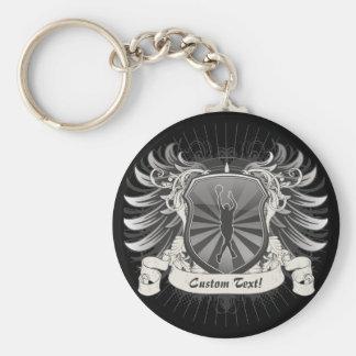 Basketball Crest Keychain