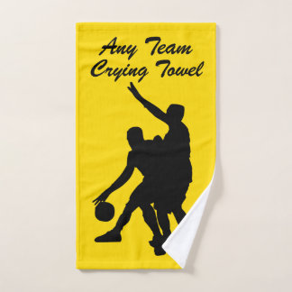 Basketball Crying Towel Your Team and Color