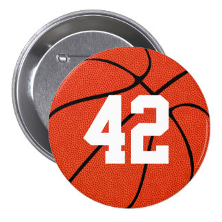 Basketball Custom High Definition Button Pin