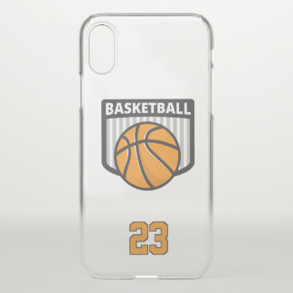 Basketball. Custom  Number iPhone X Case