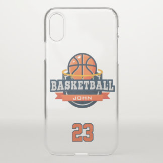 Basketball. Custom Player Name & Number. iPhone X Case
