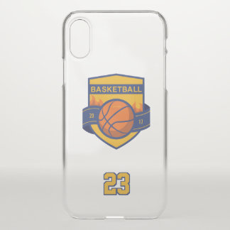 Basketball. Custom Player  Name, Number & Year iPhone X Case
