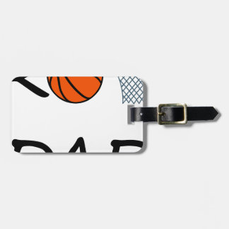 Basketball DAD Luggage Tag