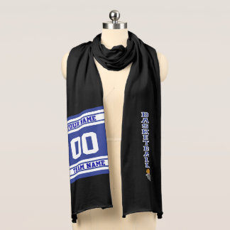 Basketball Dark Blue Letter  - Personalize Scarf