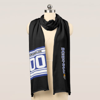 Basketball Dark Blue Letter Personalize Scarf