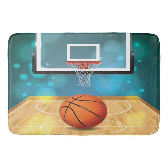 Basketball Design Bath Mat