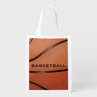 Basketball Design Reusable Tote