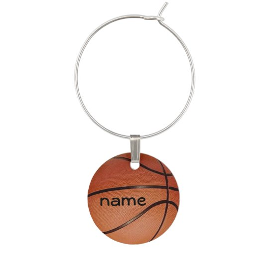 Basketball Design Wine Charm