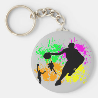 Basketball Dreams Basic Round Button Keychain