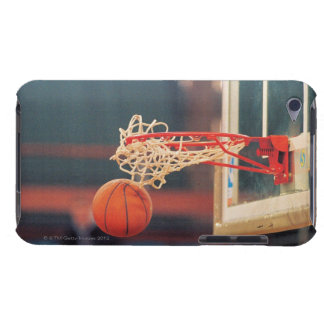 Basketball dropping through hoop barely there iPod case