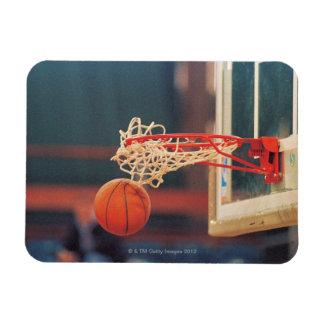 Basketball dropping through hoop flexible magnet