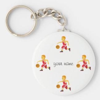 "Basketball Emoji and '' Your Name Here "" Keychain"