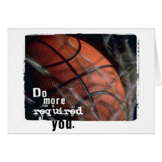 basketball encouragement card