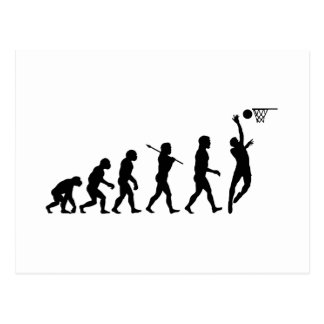 Basketball Evolution Fun Sports Art Post Card