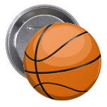 Basketball Fan 3 Inch Round Button