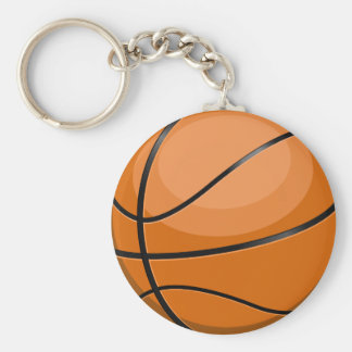 Basketball Fan Basic Round Button Keychain