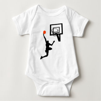 Basketball Figure Doing a Layup Baby Bodysuit