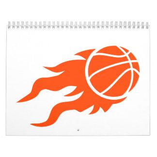 Basketball fire wall calendars