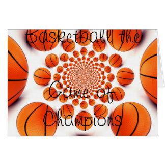 BASKETBALL GAME Greeting Card