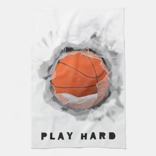 Basketball Gear Kitchen Towel