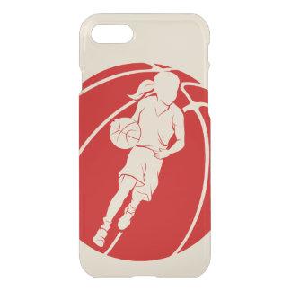 Basketball Girl Dribbling in Basketball iPhone 7 Case