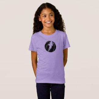 Basketball Girl Dribbling in Basketball T-Shirt