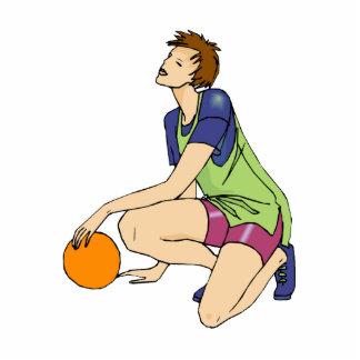 Basketball girl relaxing cut out
