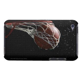 Basketball going through hoop 2 iPod touch case