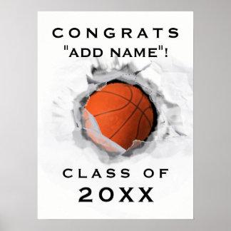 Basketball Graduation Poster
