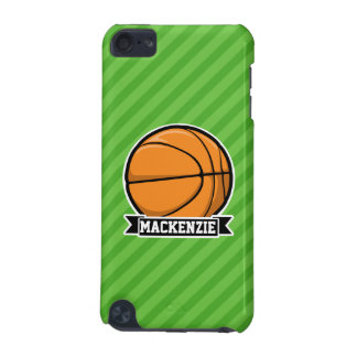 Basketball; Green Stripes iPod Touch 5G Cover
